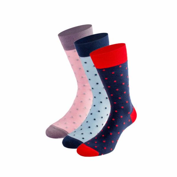 Mehrfarbiges lustiges Socken Bundle mit Punkte Socken von PATRON SOCKS