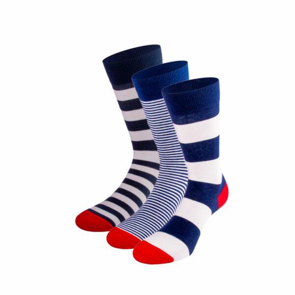 Mehrfarbiges lustiges Socken Bundle mit Streifen Socken von PATRON SOCKS