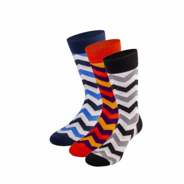 Mehrfarbiges lustiges Socken Bundle mit zick zack Socken von PATRON SOCKS