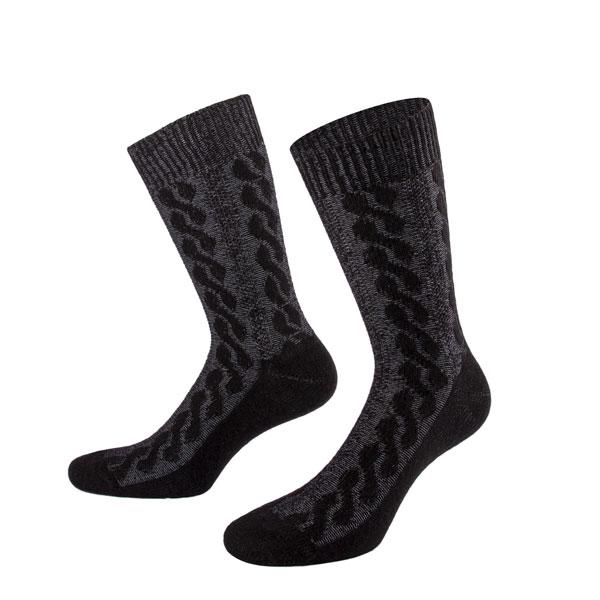 schwarz graue Kaschmir Socke von PATRON SOCKS