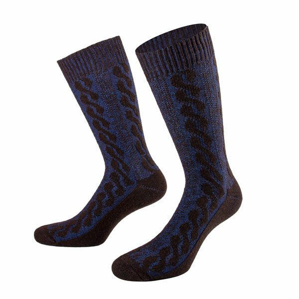 PATRON SOCKS braun blaue Kaschmir Socken