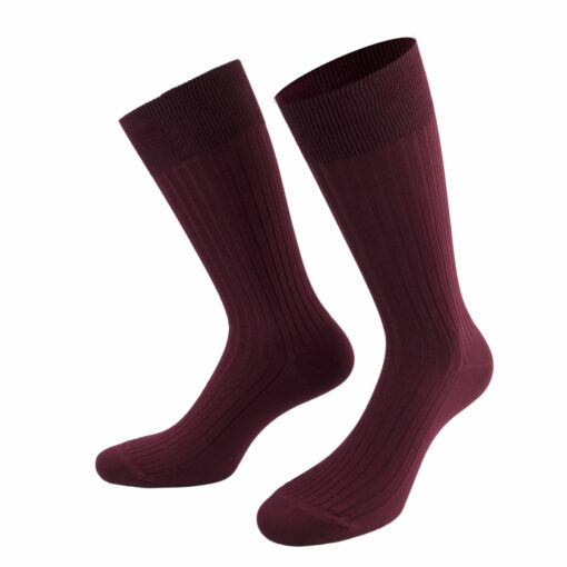 Bordeauxrote Herrensocken