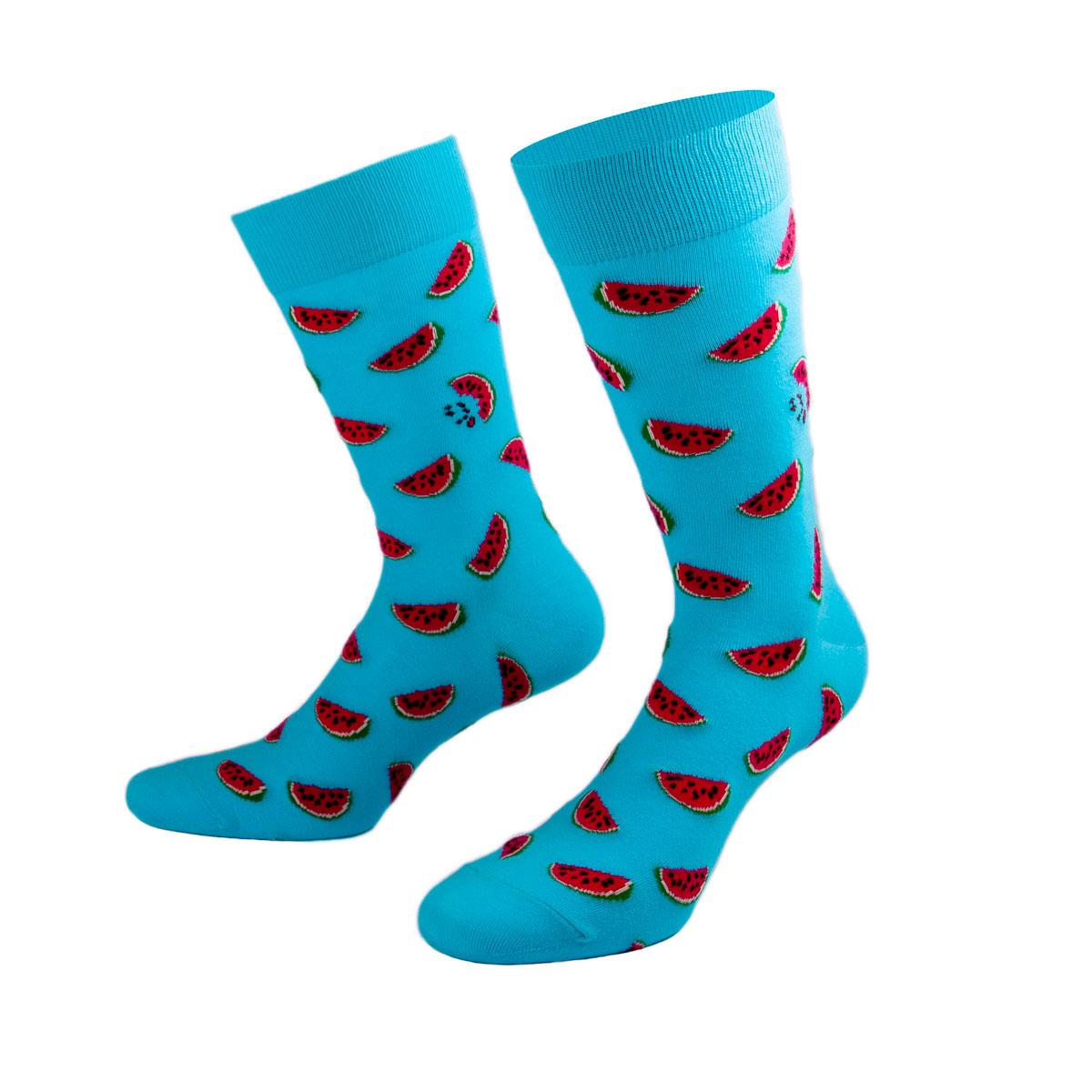 Türkisfarbene Socken mit saftigen Melonen von PATRON SOCKS