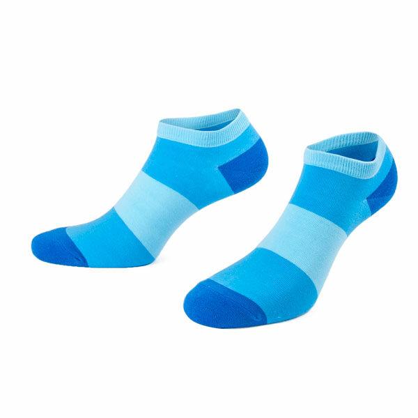 Türkisblau gestreifte Sneaker Socken von PATRON SOCKS