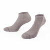 unifarbene, rutschfeste hellgraue Sneaker Socken mit PATRON SOCKS Schriftzug