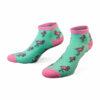 Sneaker Socken in MInt mit pinken Flamingos von PATRON SOCKS
