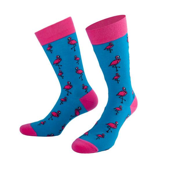 Happy Flamingo Socks in türkis von PATRON SOCKS
