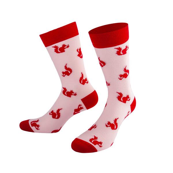 Niedliche Eichhörnchen auf Rosa Socken von PATRON SOCKS