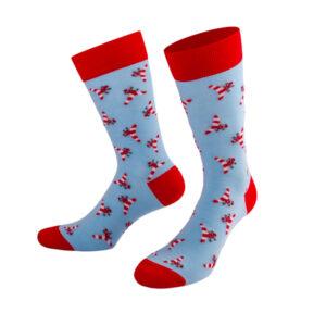 Witzige kleine Flugzeuge auf blauen PATRON SOCKS Socken