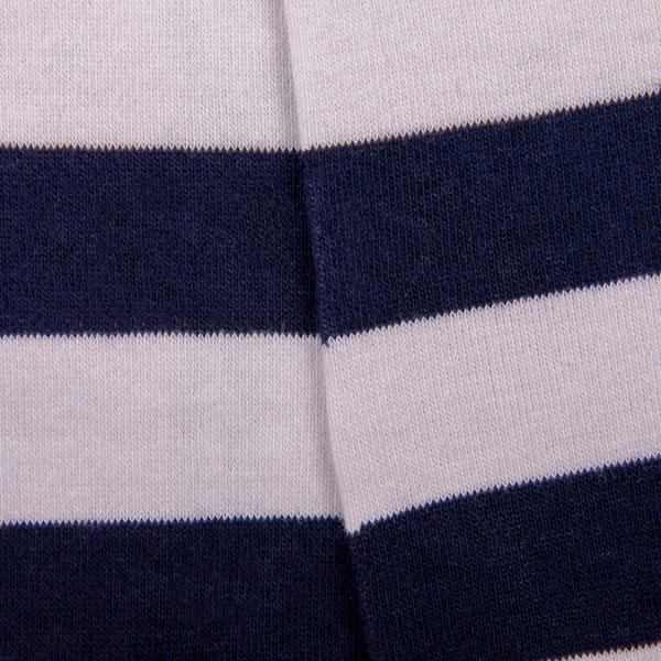 Accessoire blau weiß gestreifte Socken mit PATRON SOCKS Schriftzug
