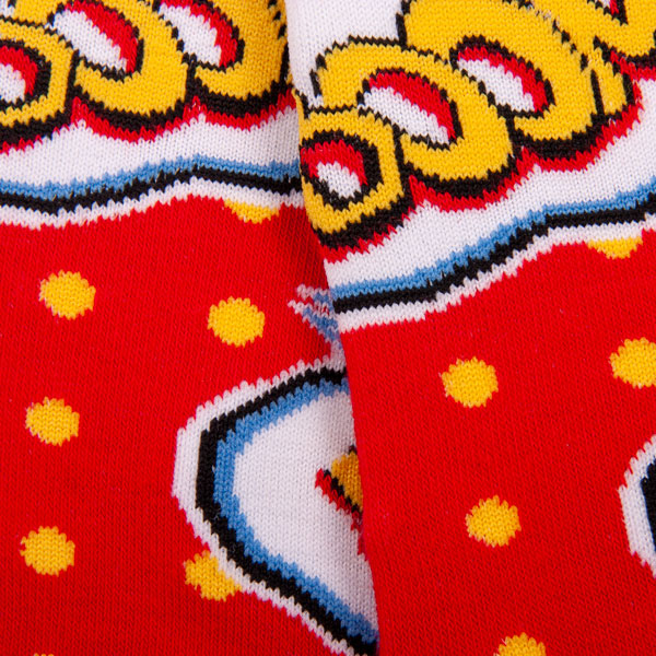 "Farbenfrohe ""Boom"" Comic Socken von PATRON SOCKS"
