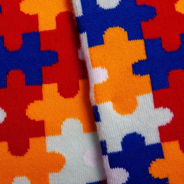 """Mehrfarbige lustige Socken """"Puzzle"""" von PATRON SOCKS kaufen"""