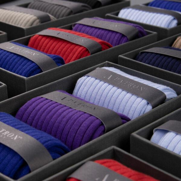 Bunte Geschenkbox mit Business Socken für Männer