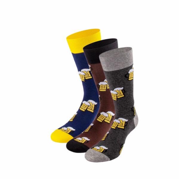 Mehrfarbiges lustiges Socken Bundle mit Bier Socken von PATRON SOCKS