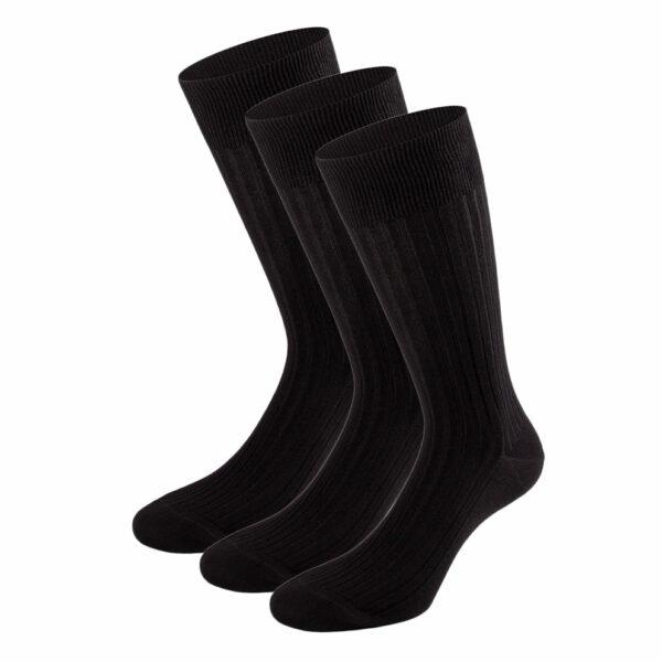 Mehrfarbiges edles Business Socken Bundle mit schwarzen Socken von PATRON SOCKS