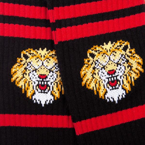 Schwarze Tennis Socke mit Löwen Kopf von PATRON SOCKS