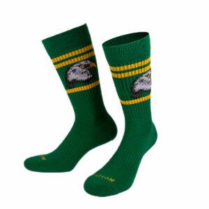 Grüne Tennis Socke mit Löwenkopf von PATRON SOCKS