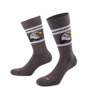 Graue Tennis Socke mit Falken von PATRON SOCKS