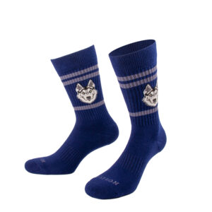 Blaue Tennis Socke mit Husky Kopf von PATRON SOCKS