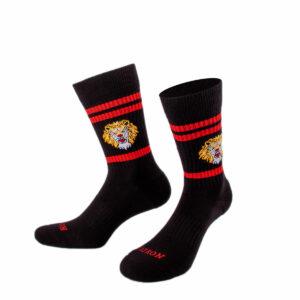 Schwarze Tennis Socke mit Löwenkopf von PATRON SOCKS